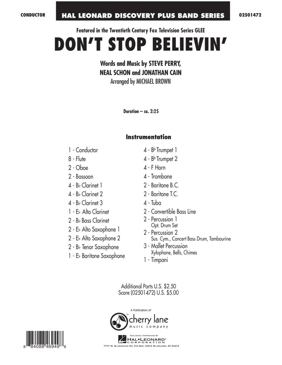 Don't Stop Believin' - Full Score