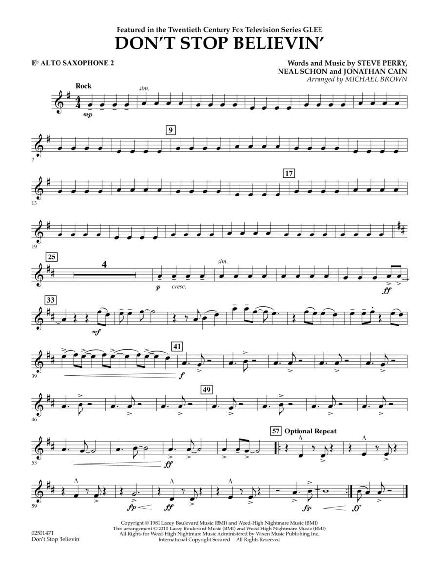 Don't Stop Believin' - Eb Alto Saxophone 2