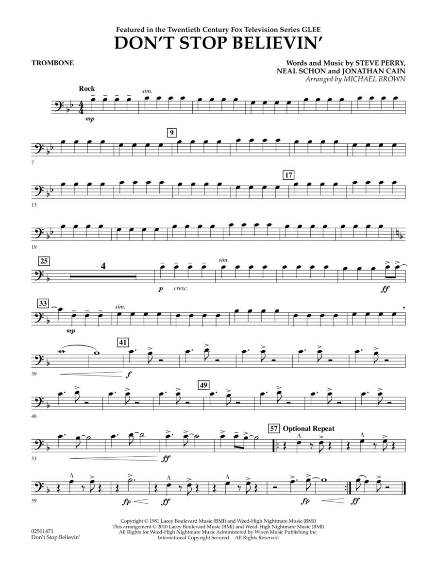 Don't Stop Believin' - Trombone