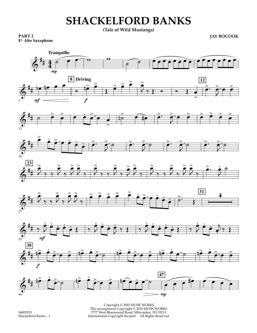 Shackelford Banks (Tale of Wild Mustangs) - Pt.2 - Eb Alto Saxophone