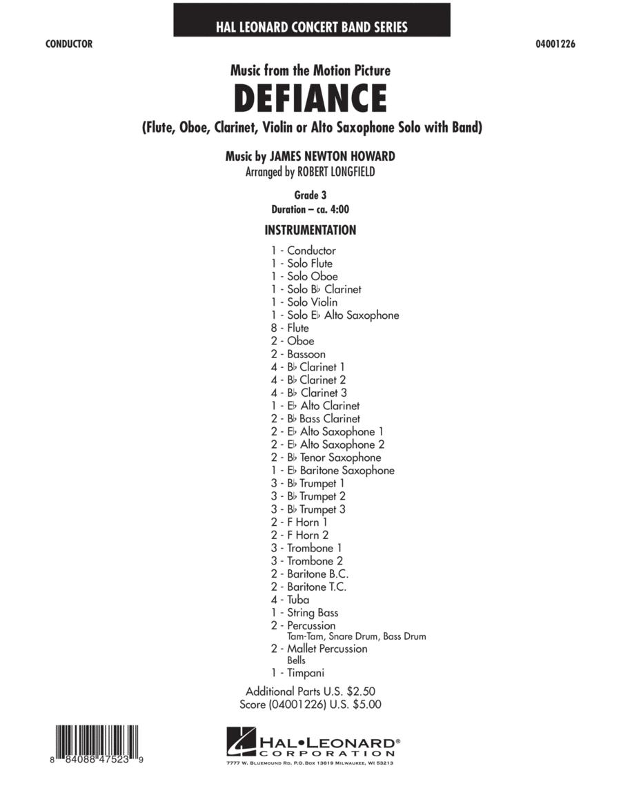 Music from Defiance - Full Score