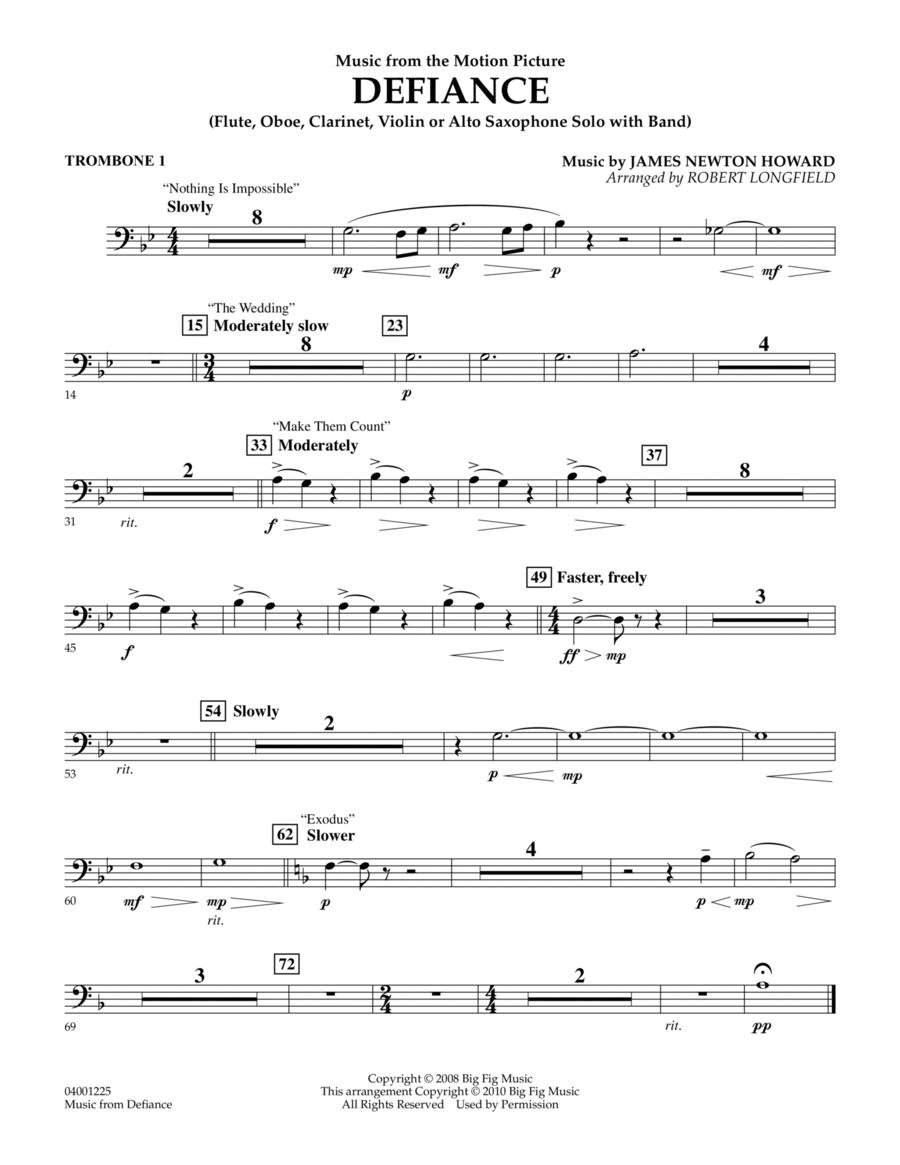 Music from Defiance - Trombone 1