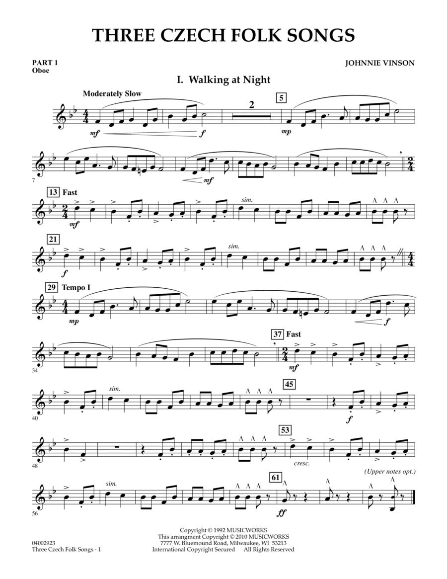 Three Czech Folk Songs - Pt.1 - Oboe