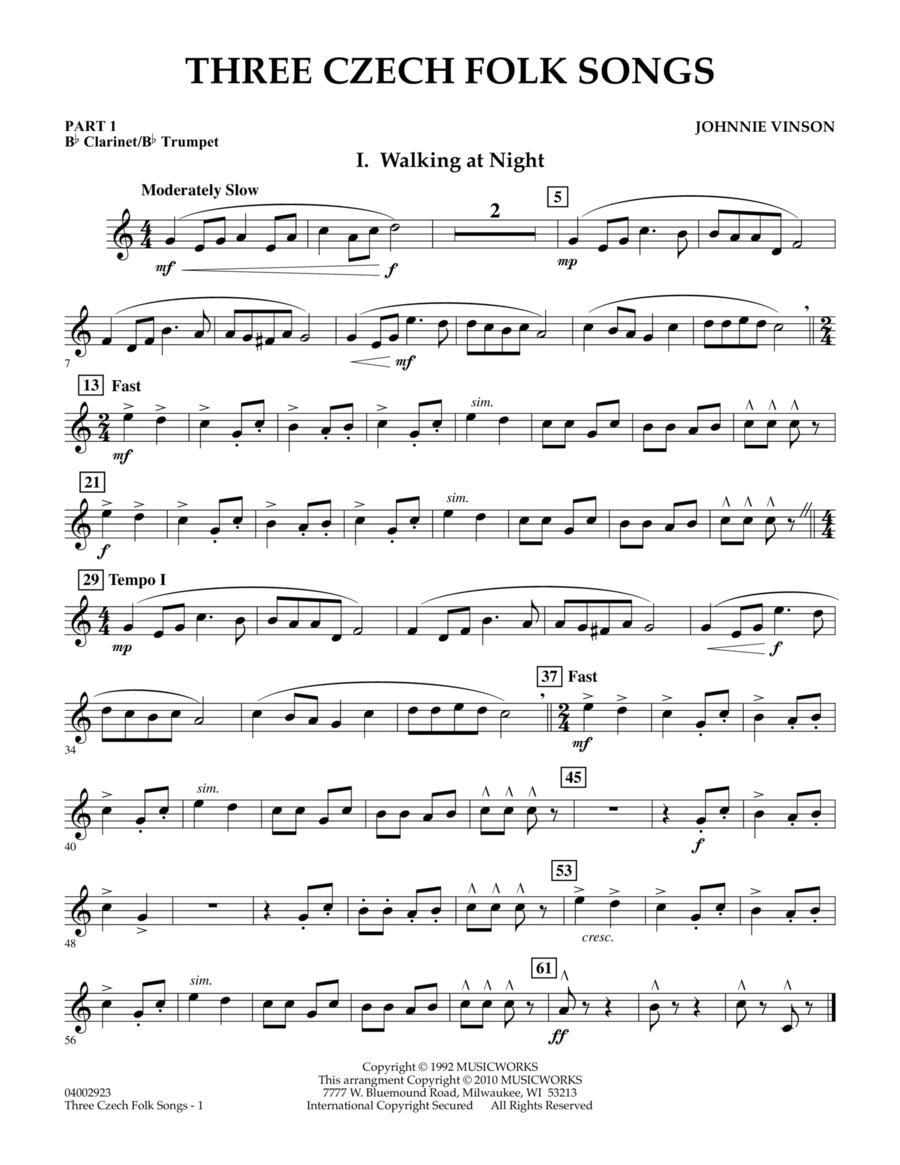 Three Czech Folk Songs - Pt.1 - Bb Clarinet/Bb Trumpet