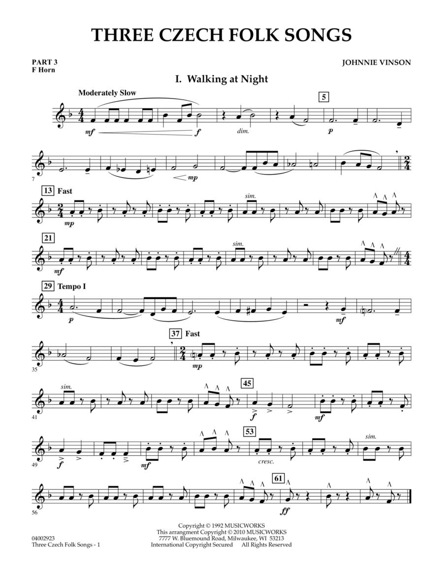 Three Czech Folk Songs - Pt.3 - F Horn