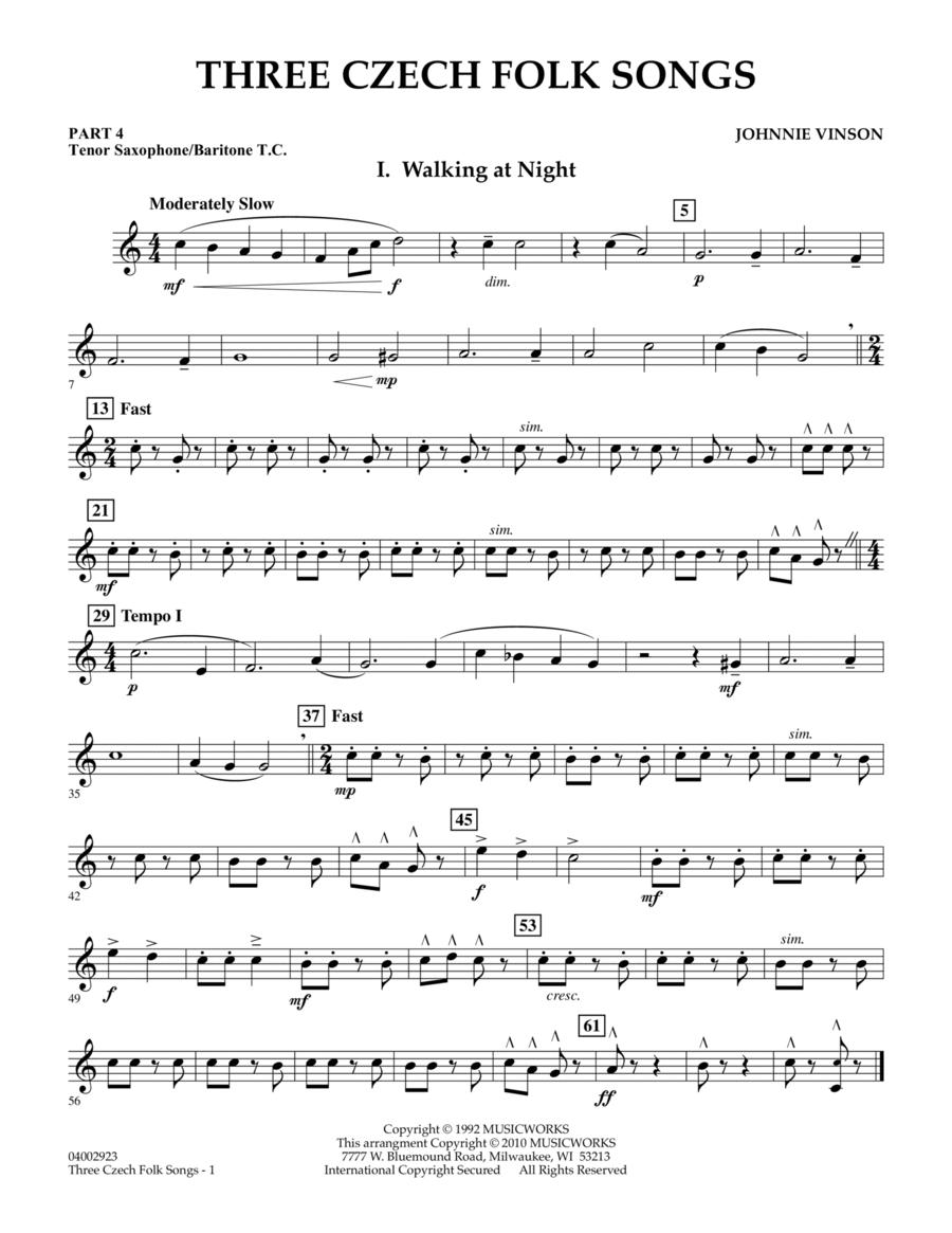 Three Czech Folk Songs - Pt.4 - Bb Tenor Sax/Bar. T.C.