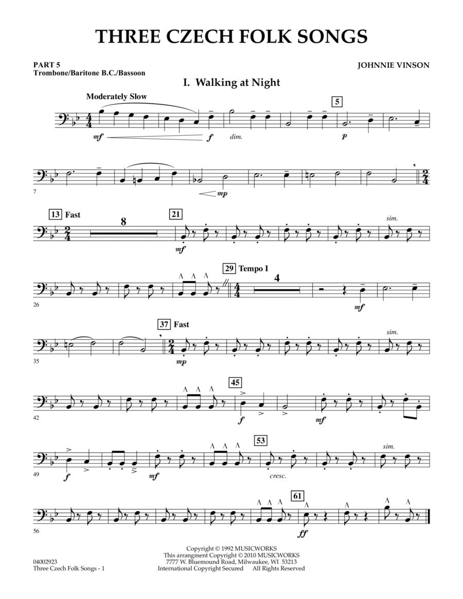 Three Czech Folk Songs - Pt.5 - Trombone/Bar. B.C./Bsn.