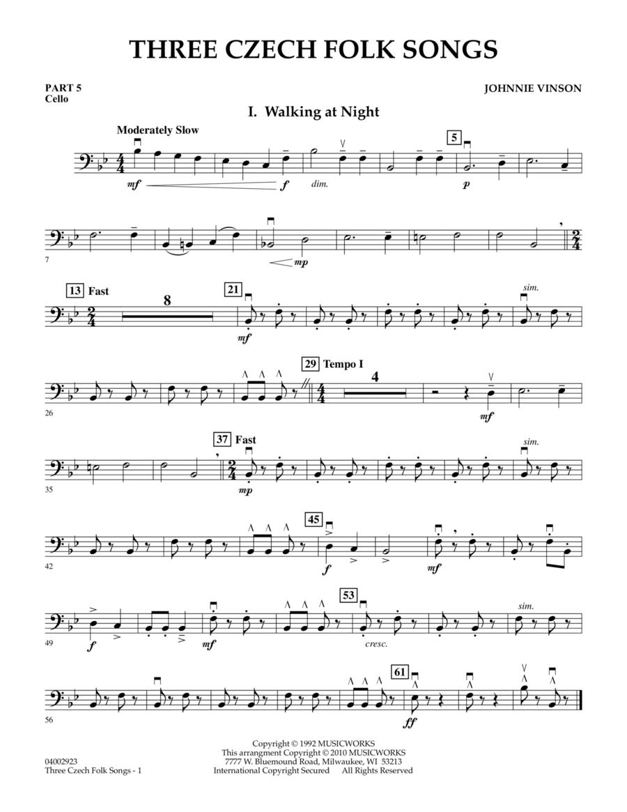 Three Czech Folk Songs - Pt.5 - Cello