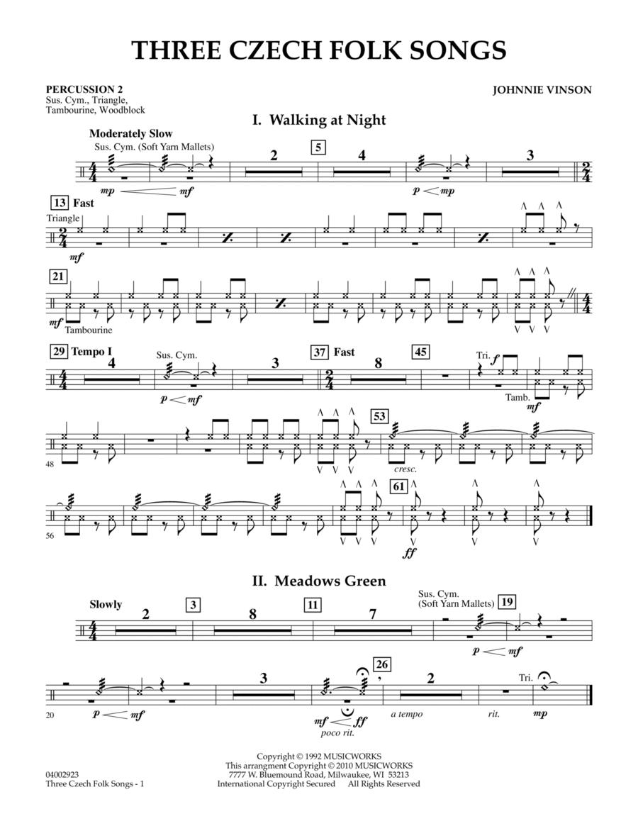 Three Czech Folk Songs - Percussion 2