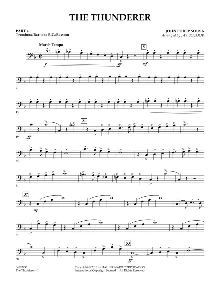 The Thunderer - Pt.4 - Trombone/Bar. B.C./Bsn.