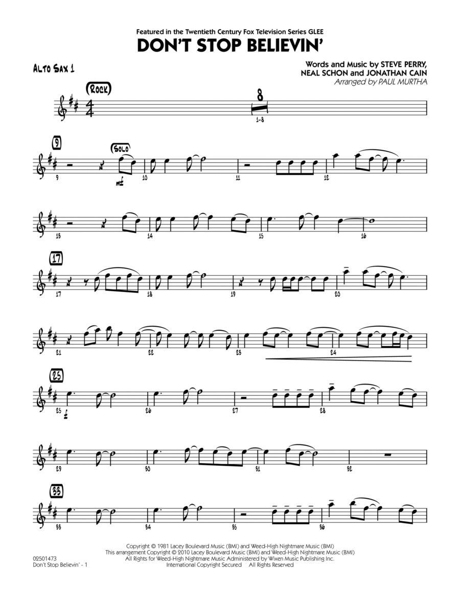 Don't Stop Believin' - Alto Sax 1