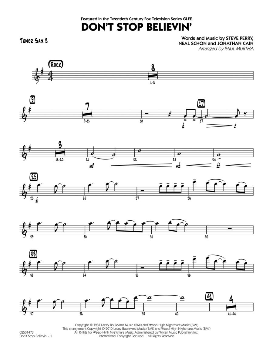 Don't Stop Believin' - Tenor Sax 2