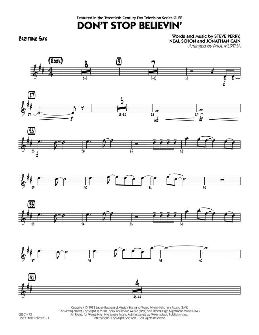 Don't Stop Believin' - Baritone Sax