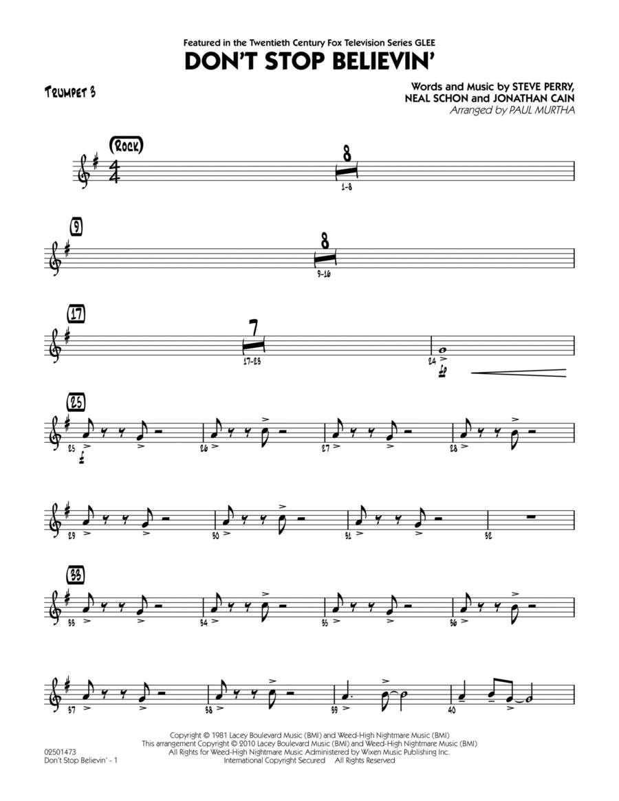 Don't Stop Believin' - Trumpet 3