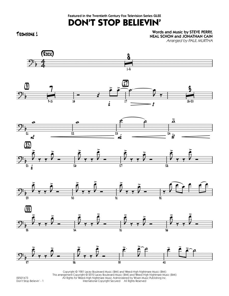 Don't Stop Believin' - Trombone 1
