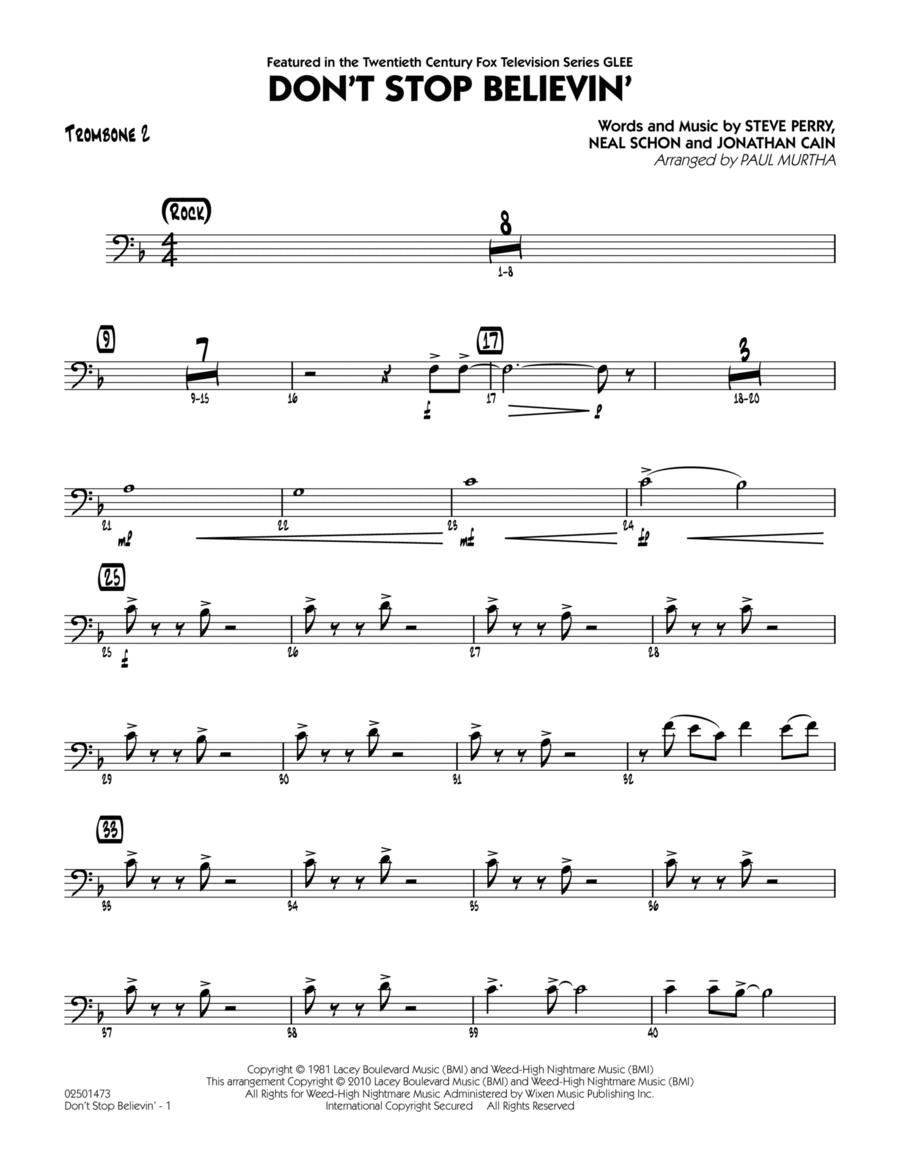 Don't Stop Believin' - Trombone 2