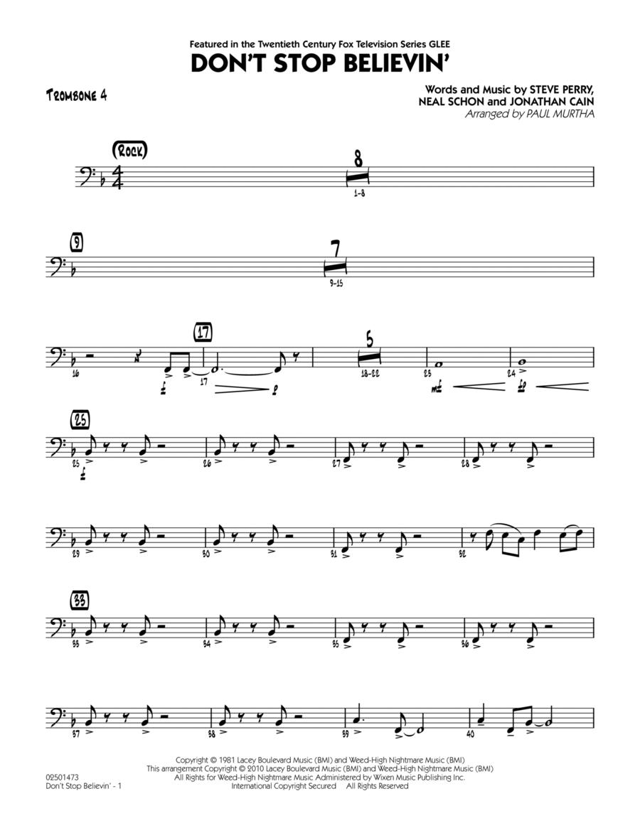 Don't Stop Believin' - Trombone 4