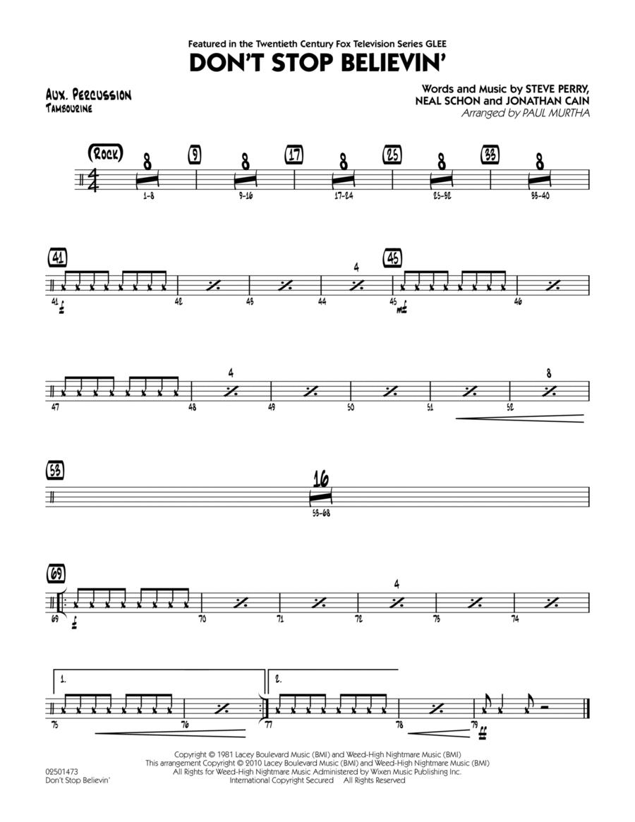 Don't Stop Believin' - Aux Percussion