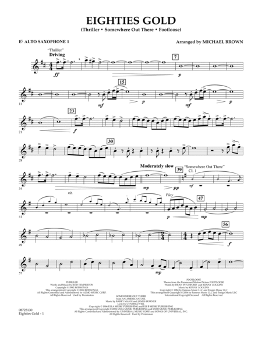 Eighties Gold - Eb Alto Saxophone 1