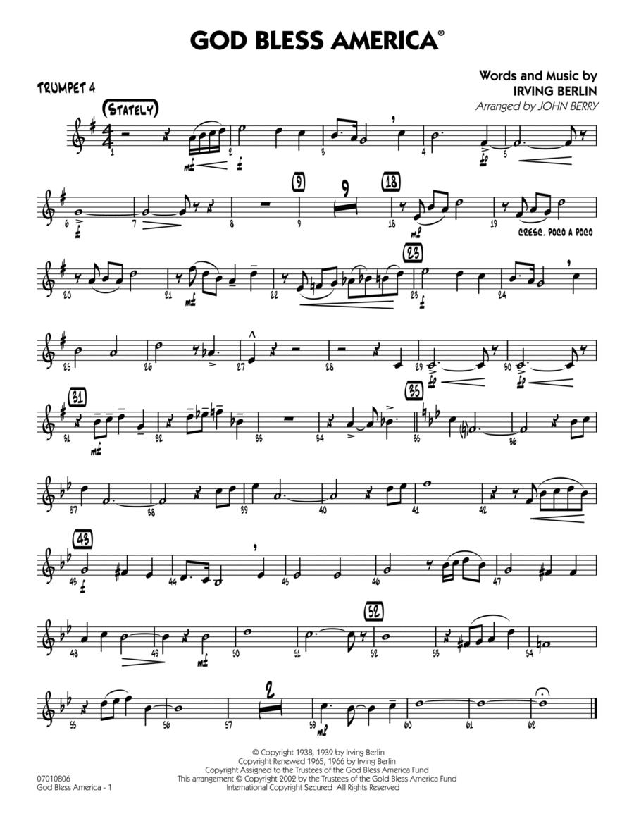 God Bless America - Trumpet 4