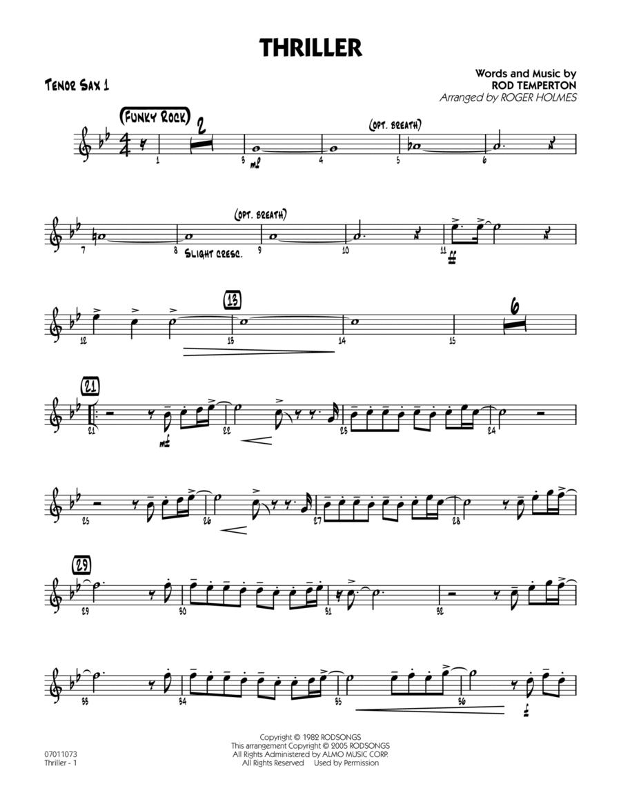 Thriller - Tenor Sax 1
