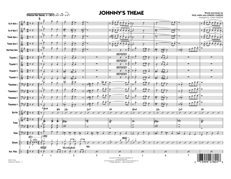 Johnny's Theme (from The Tonight Show) - Conductor Score (Full Score)