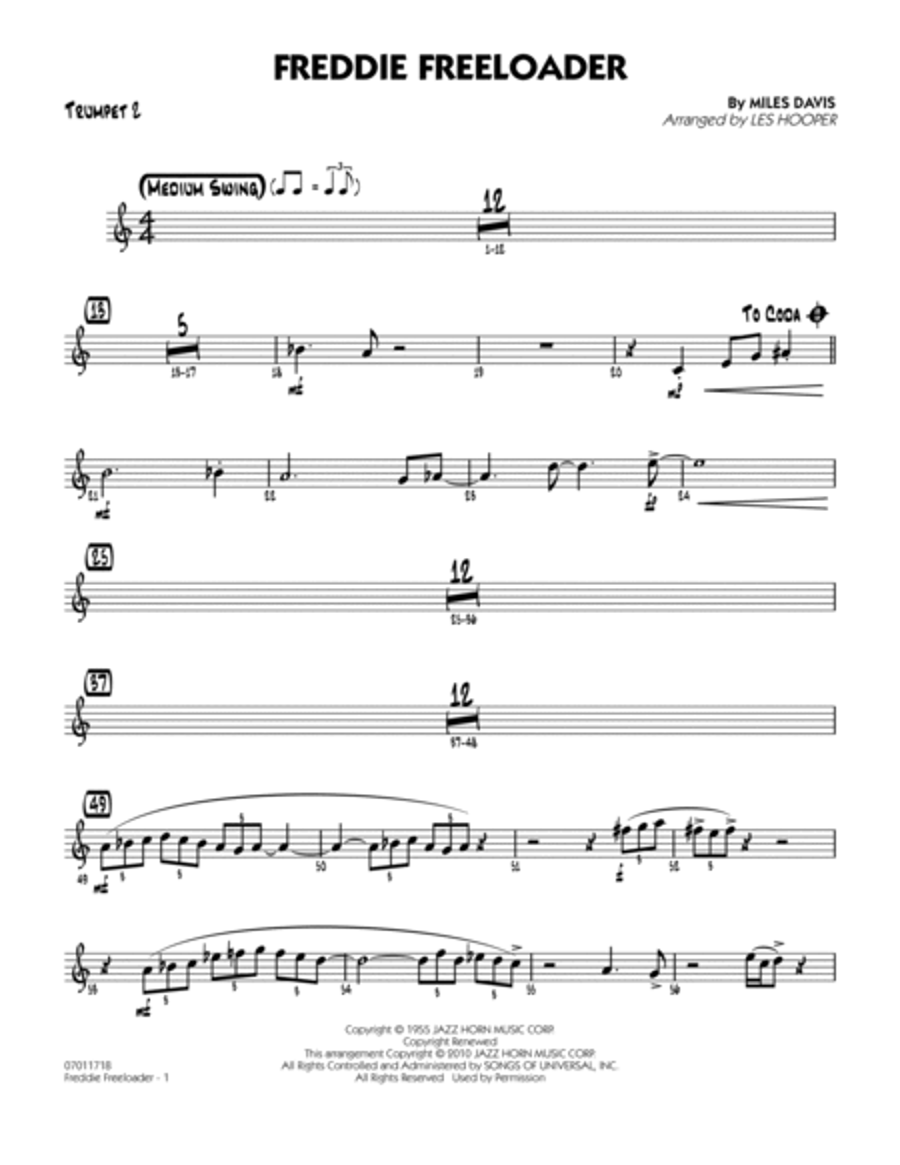 Freddie Freeloader - Trumpet 2