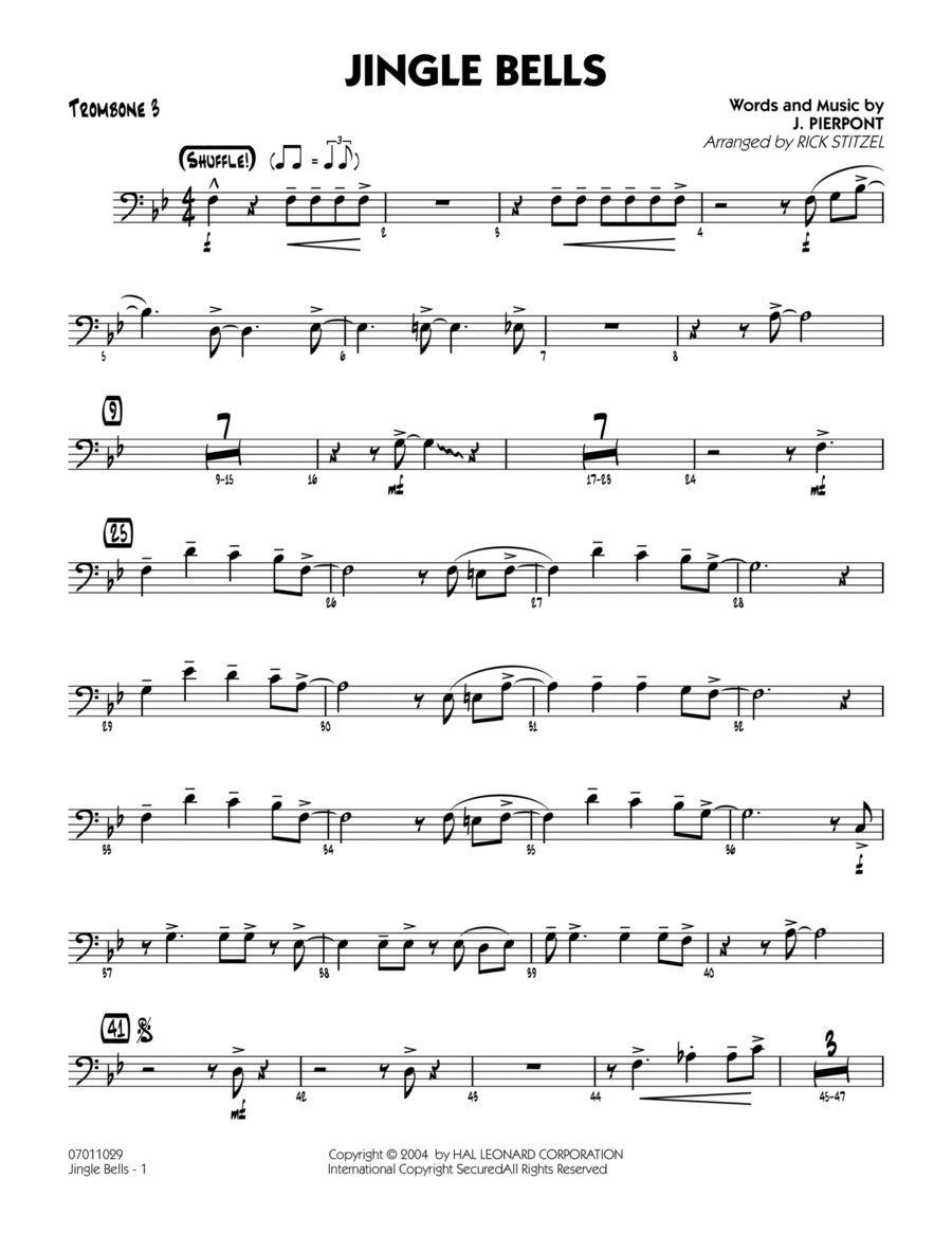 Jingle Bells - Trombone 3