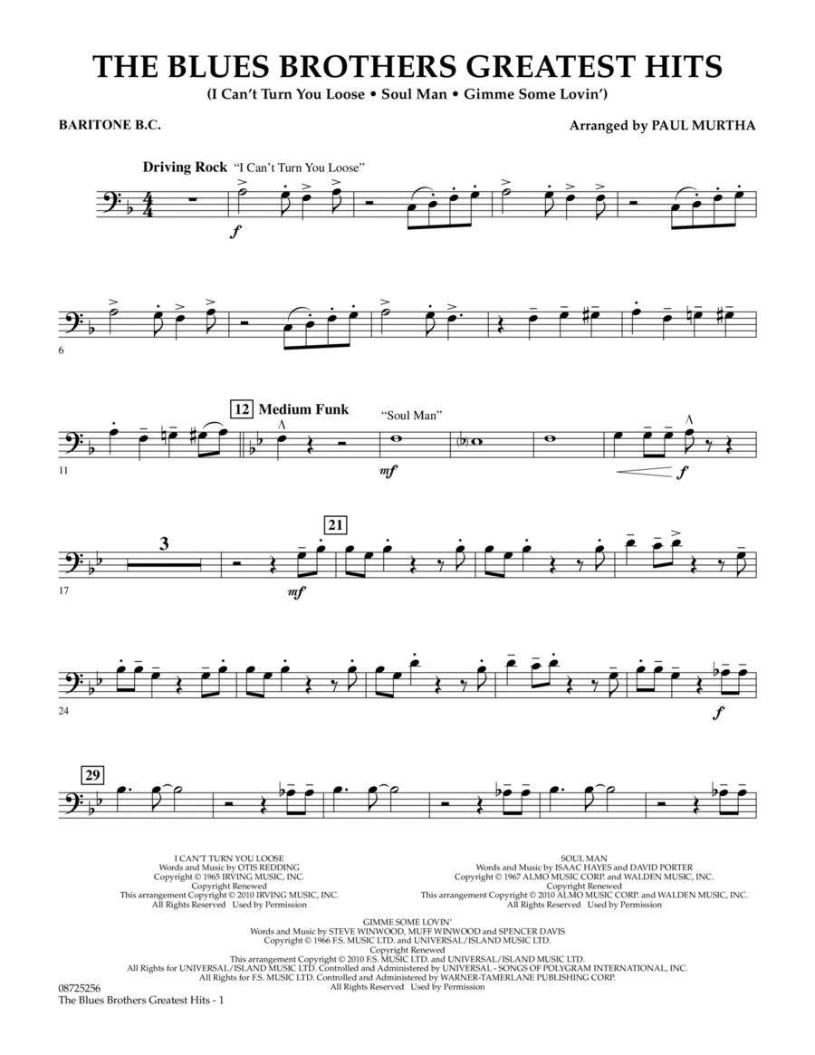 The Blues Brothers Greatest Hits - Baritone B.C.