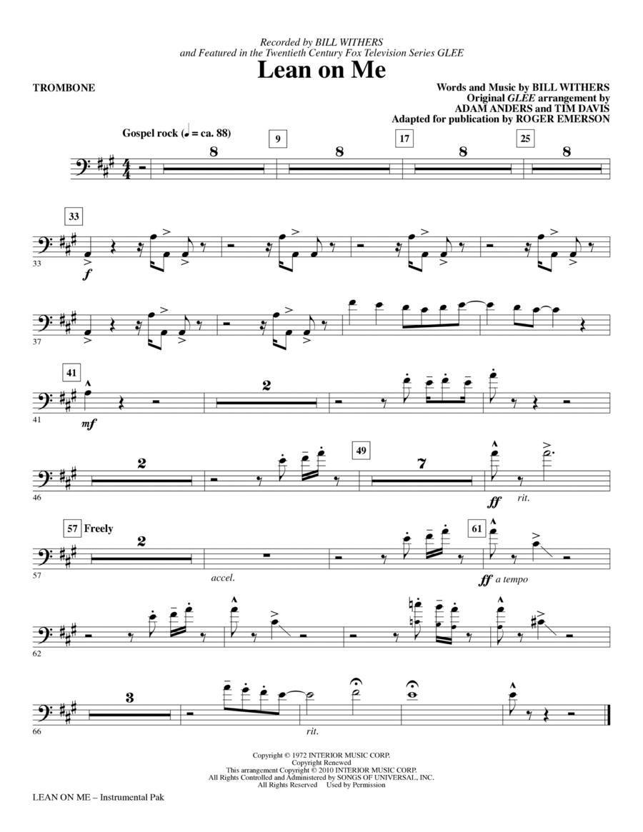 Lean On Me - Trombone