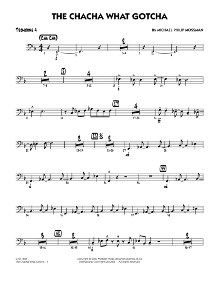 The Chacha What Gotcha - Trombone 4