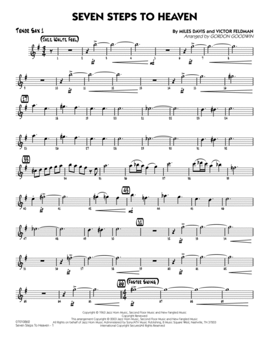 Seven Steps To Heaven - Tenor Sax 1