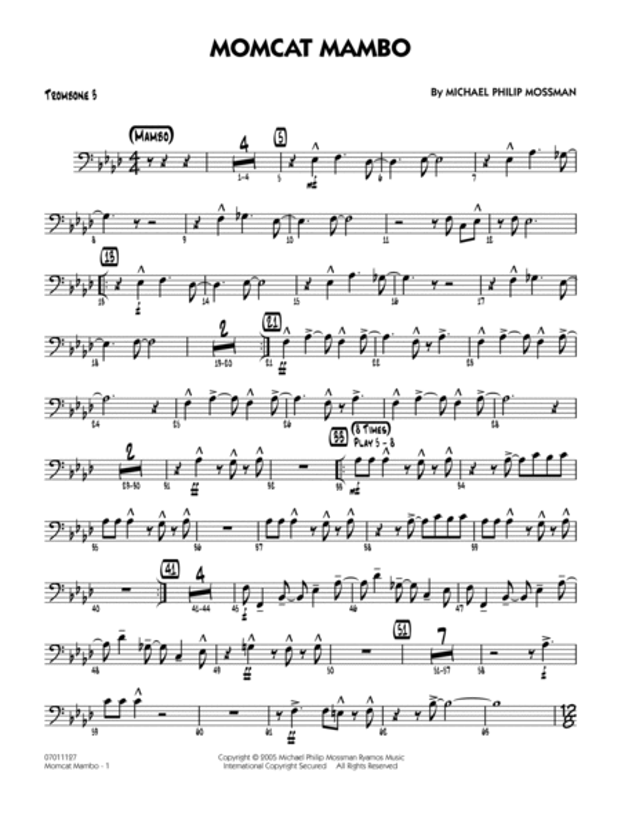 Momcat Mambo - Trombone 3