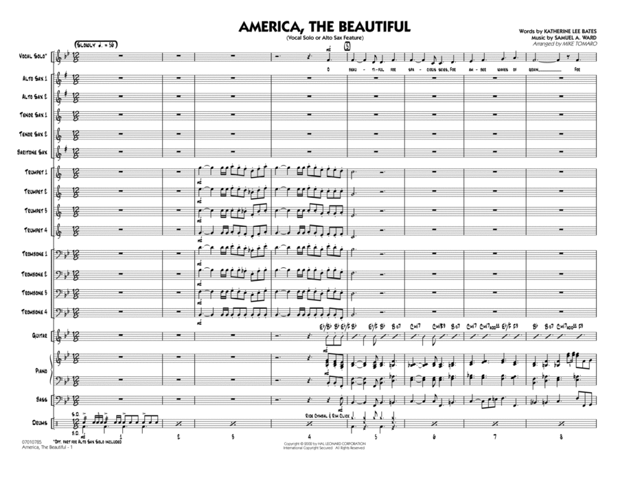 America, The Beautiful - Full Score