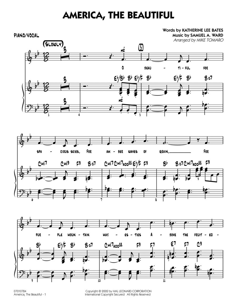 America, The Beautiful - Piano/Vocal