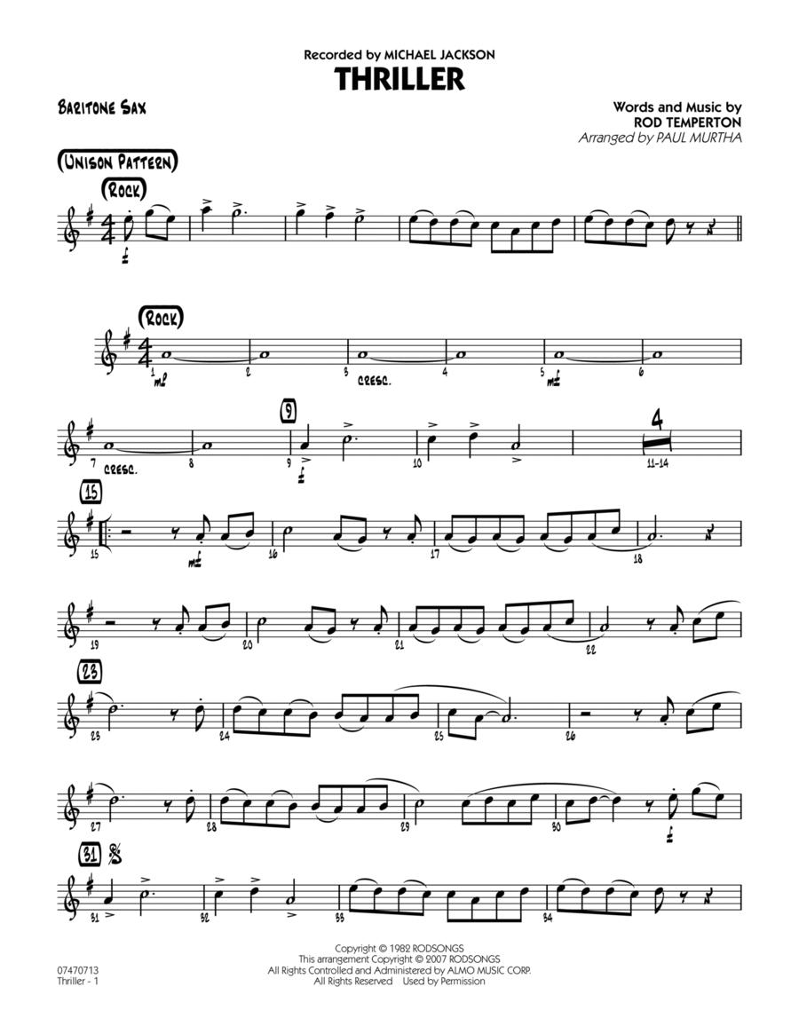 Thriller - Baritone Sax