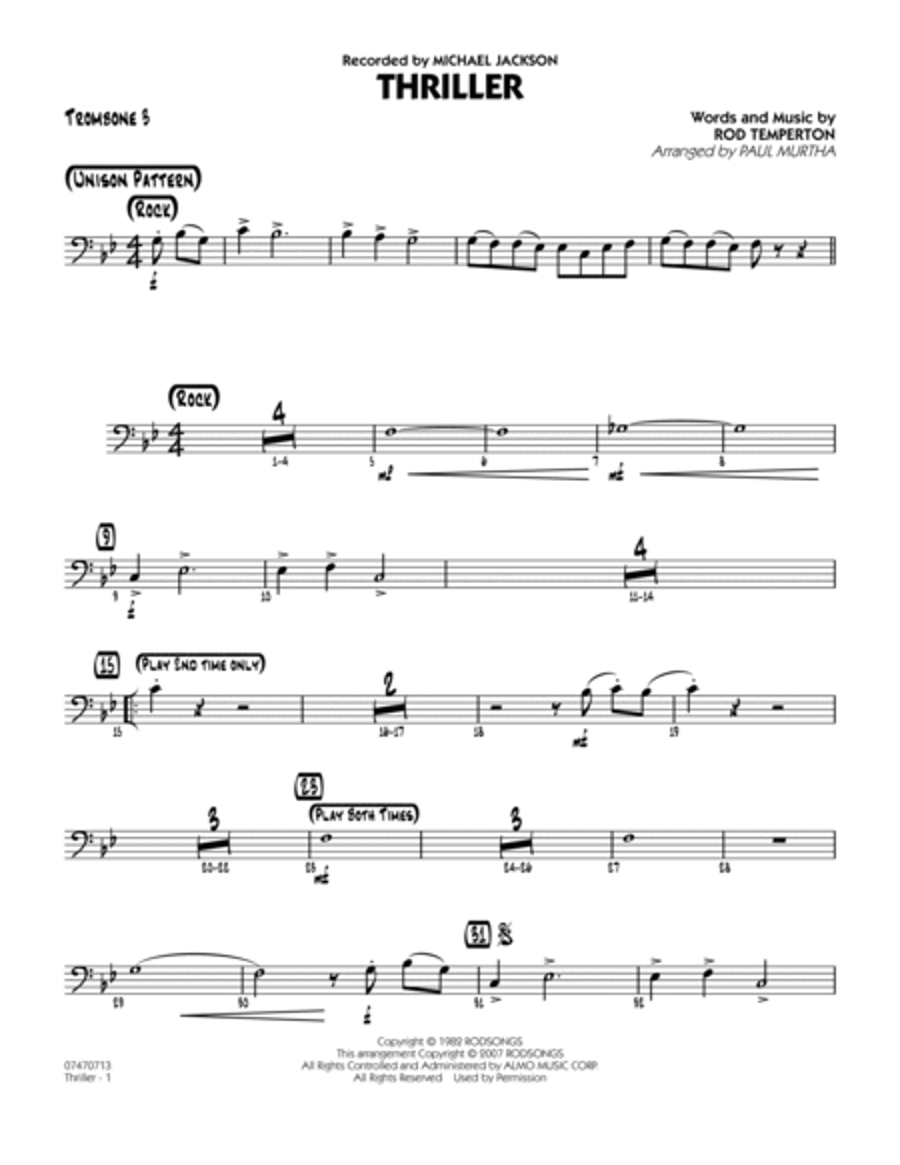 Thriller - Trombone 3