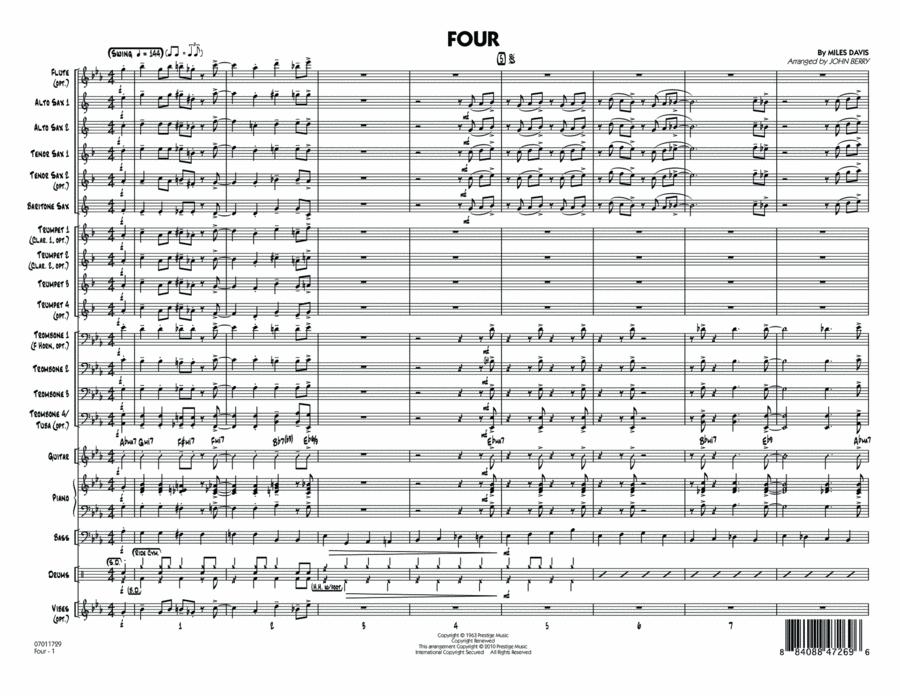 Four - Full Score