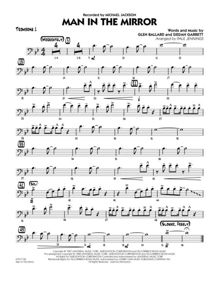 Man In The Mirror - Trombone 1
