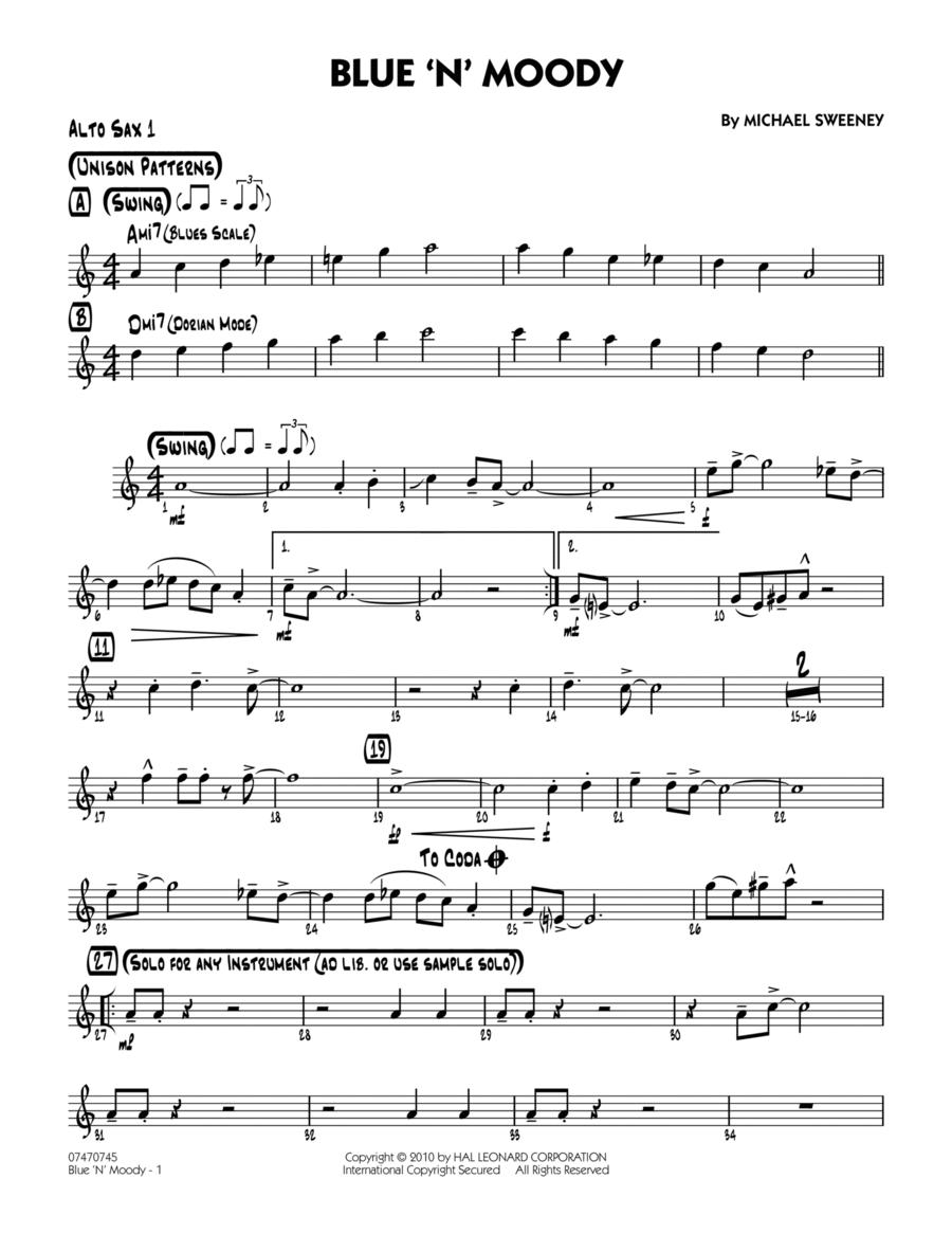 Blue 'N' Moody - Alto Sax 1