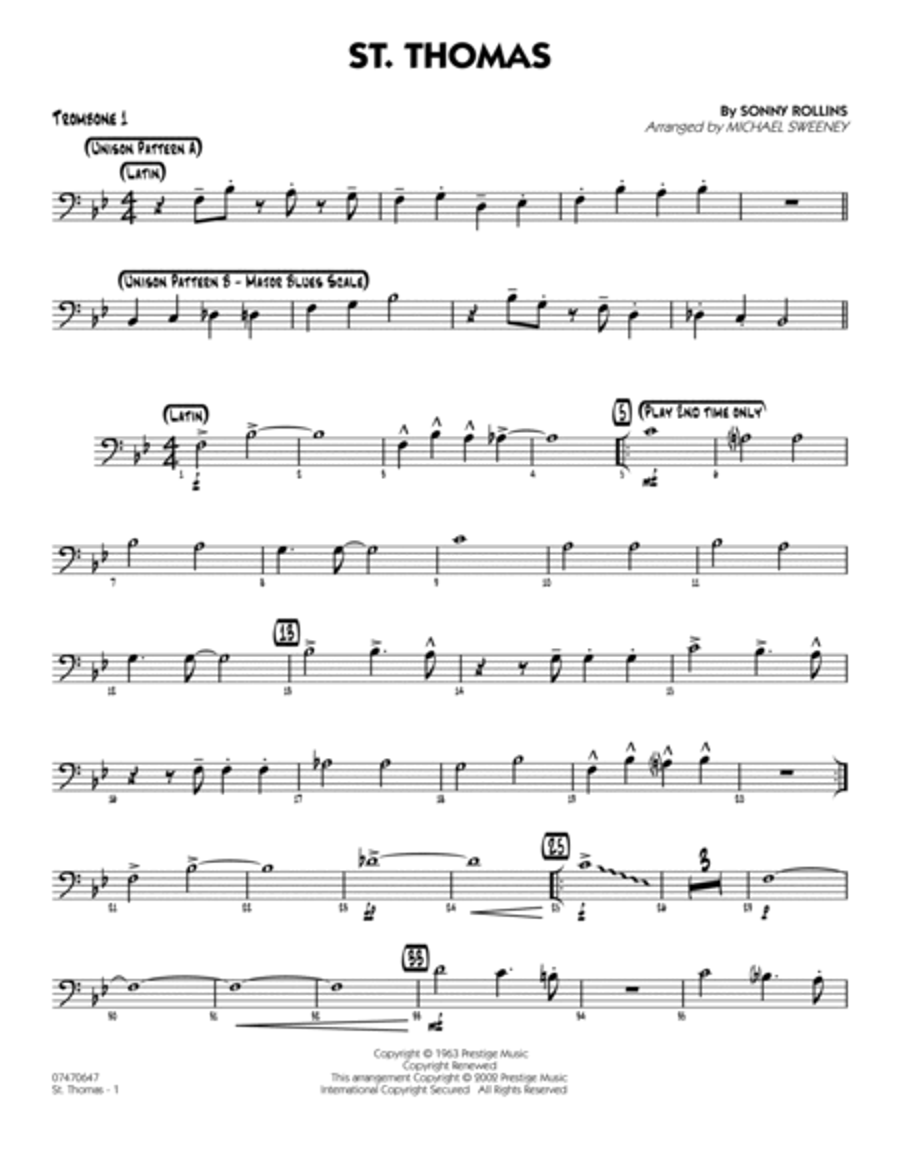 St. Thomas - Trombone 1