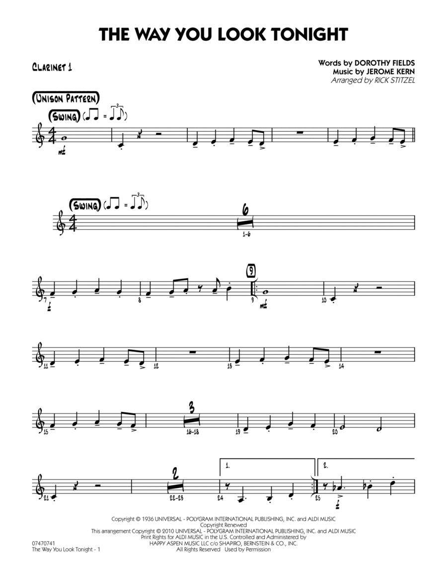 The Way You Look Tonight - Bb Clarinet 1