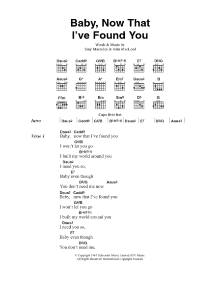 Baby, Now That I've Found You