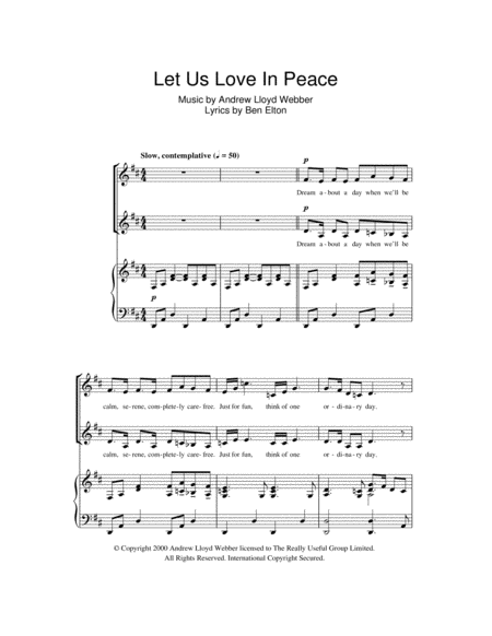 Let Us Love In Peace