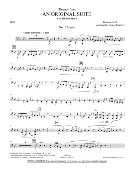 Themes from An Original Suite - Tuba