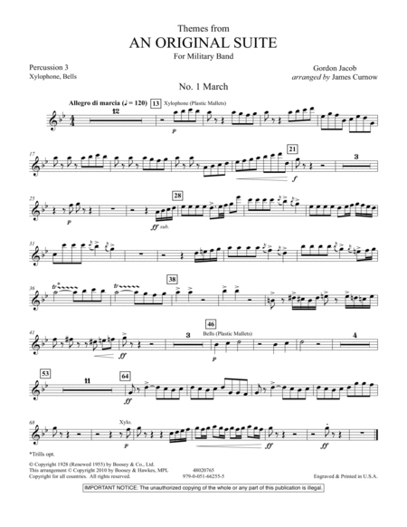 Themes from An Original Suite - Percussion 3