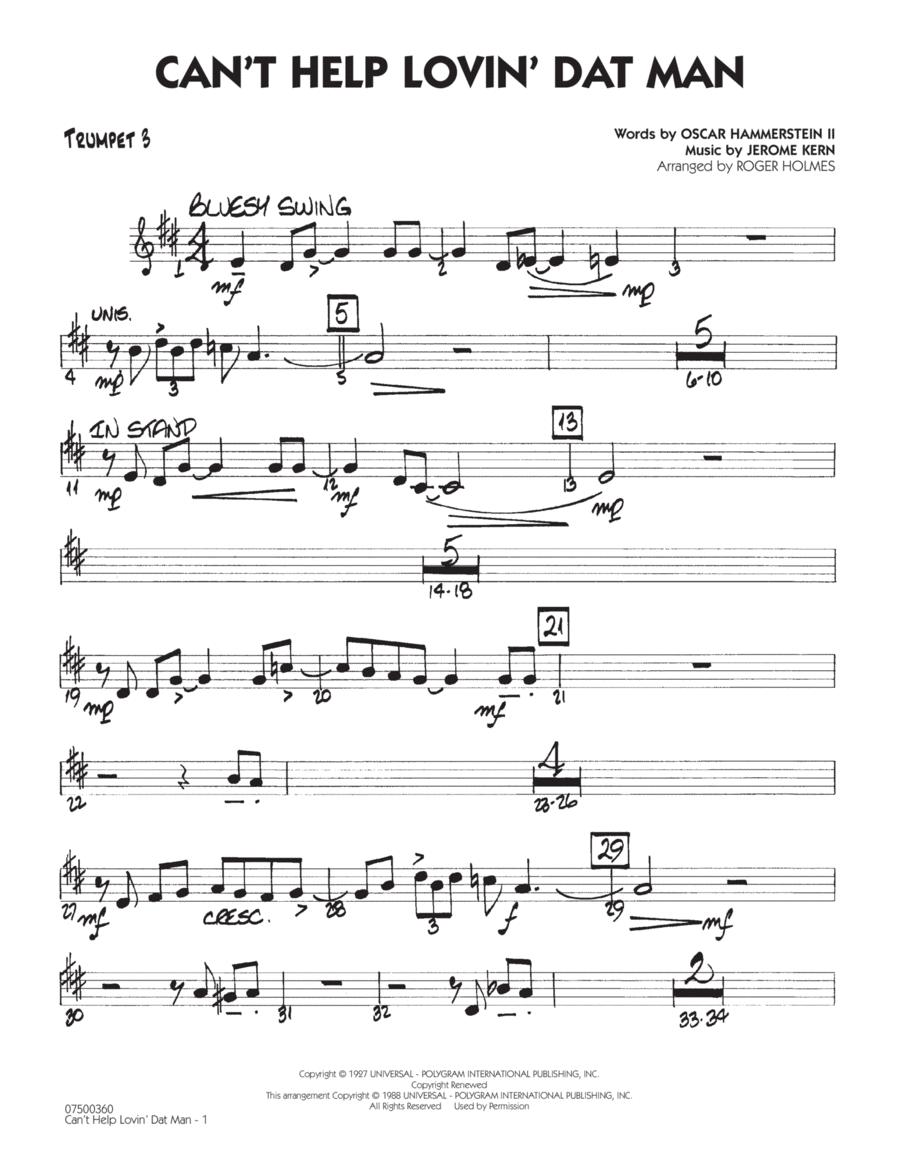 Can't Help Lovin' Dat Man - Trumpet 3