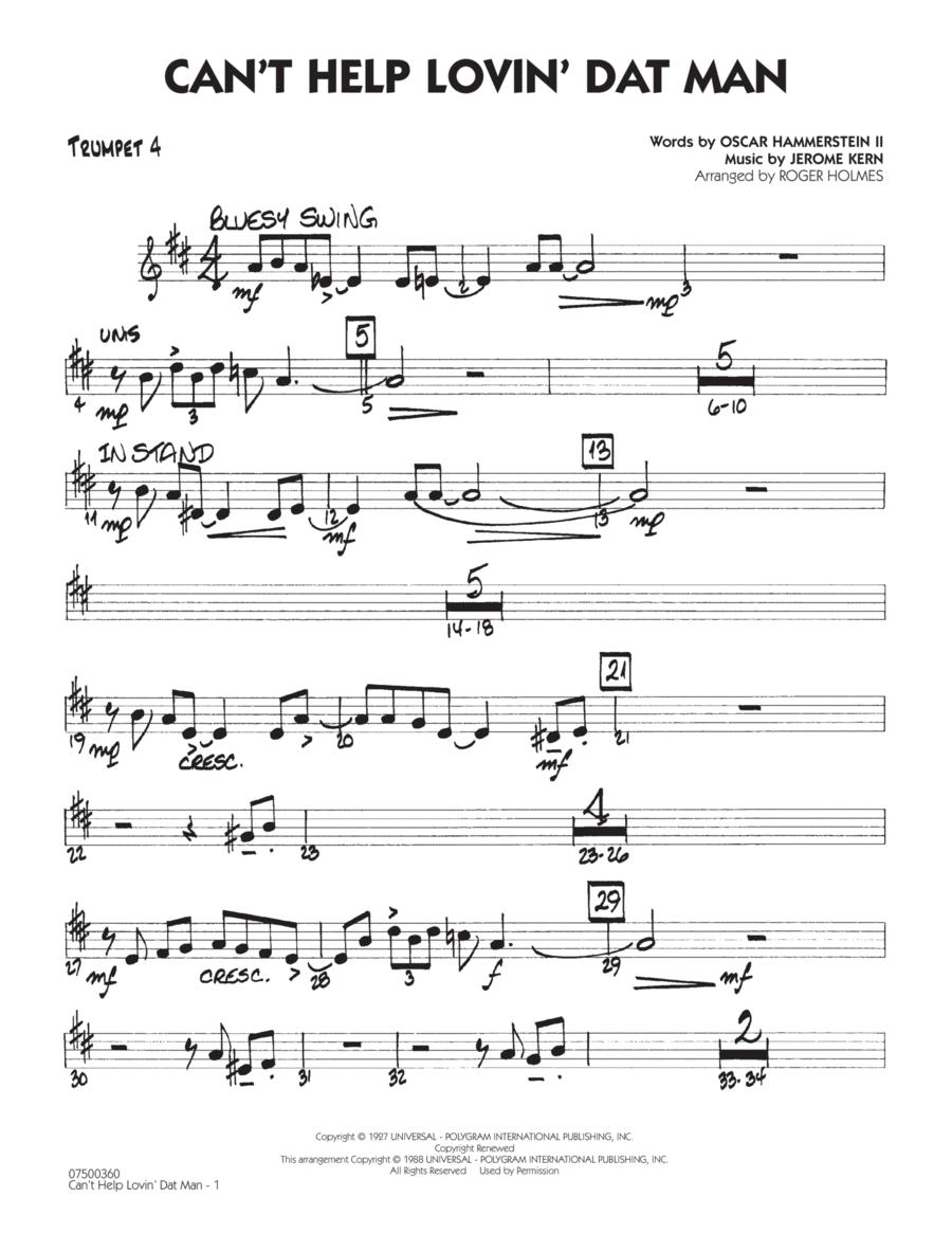 Can't Help Lovin' Dat Man - Trumpet 4