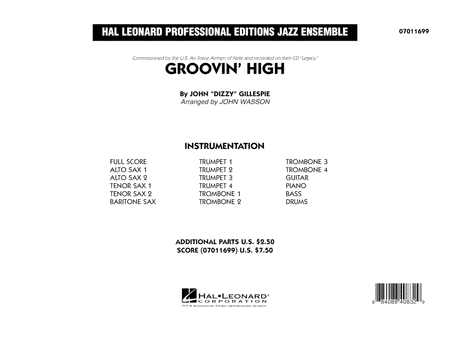 Groovin' High - Conductor Score (Full Score)