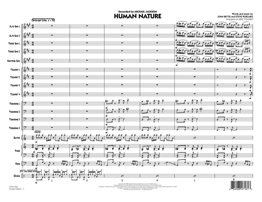 Human Nature - Conductor Score (Full Score)